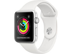 Умные часы Apple Watch Series 3 42mm Silver Aluminum Case with White Sport Band