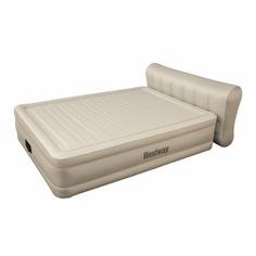 Надувная кровать со спинкой и встроенным электронасосом bestway essence fortech 229х152х79см 69019 bw