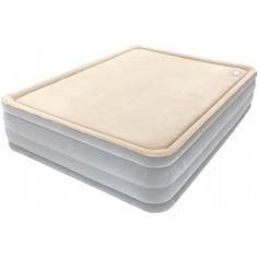 Надувная кровать со встроенным насосом bestway foamtop comfort raised airbed 203х152х46см, мягкий верх 67486 bw