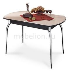 Стол обеденный Милан хром/венге цаво/бежевый Мебель Трия