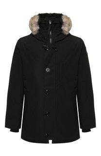 Пуховая куртка Chateau на молнии с меховой отделкой капюшона Canada Goose