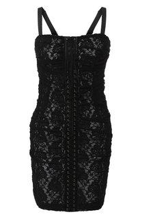 Кружевное платье-бюстье со шнуровкой Dolce & Gabbana