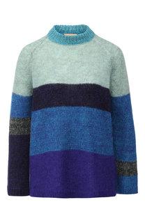 Вязаный пуловер в контрастную полоску Nude