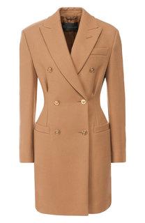 Двубортное шерстяное пальто Versace
