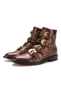 Ботинки Elegant Studs из металлизированной кожи с заклепками Givenchy