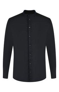 Хлопковая рубашка с воротником мандарин Giorgio Armani
