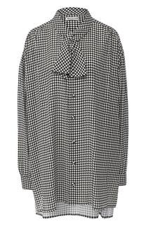 Блуза свободного кроя с воротником аскот Balenciaga