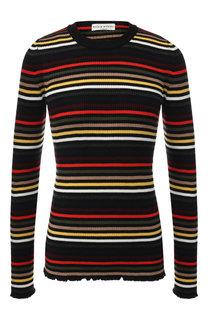 Шерстяной пуловер в контрастную полоску Sonia Rykiel