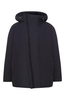 Пуховая куртка на косой молнии с капюшоном Odri