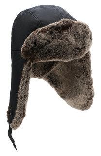 Хлопковая шапка-ушанка Woolrich