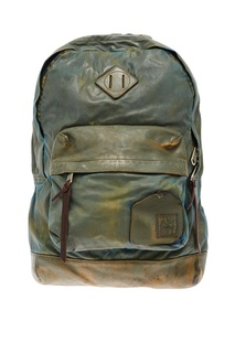 Фактурный кожаный рюкзак Grunge John Orchestra Explosion