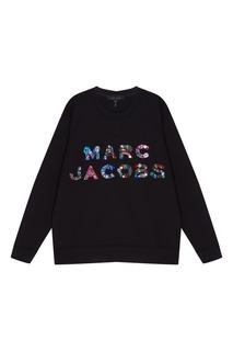 Черный свитшот с аппликацией Marc Jacobs