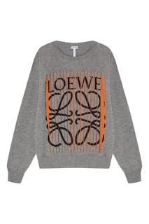Серый пуловер из кашемира Loewe