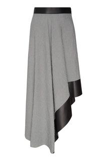 Асимметричная серая юбка Loewe