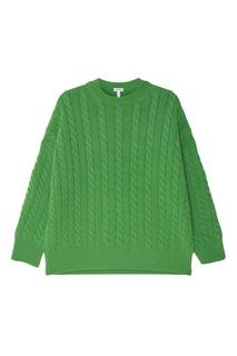 Зеленый шерстяной джемпер Loewe