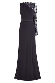 Черное платье с кружевным верхом Alexander Mc Queen