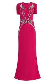 Розовое платье с пайетками Alexander Mc Queen