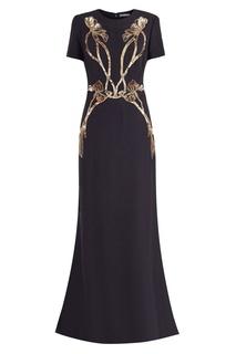 Черное платье с пайетками Alexander Mc Queen