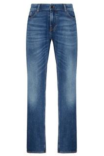 Синие джинсы с заломами Boss Orange