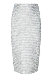 Серая юбка с люрексом St. John