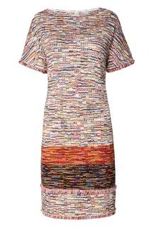 Пестрое платье с отделкой St. John