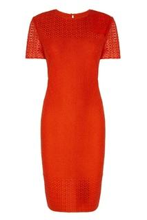 Красное платье с отделкой St. John