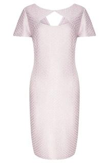 Сиреневое мини-платье St. John