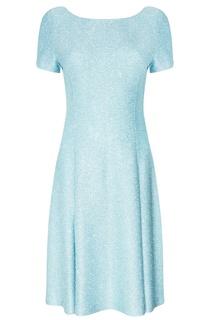 Голубое платье с отделкой St. John