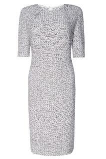 Фактурное платье со сборками St. John