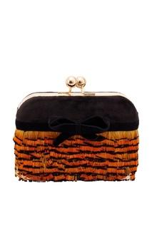 Пестрый клатч с перьями фазана Esve
