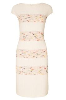 Фактурное розовое платье St. John