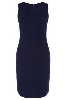Синее платье-футляр St. John