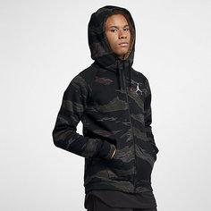 Мужская флисовая худи с молнией во всю длину и камуфляжным принтом Jordan Sportswear Jumpman Nike