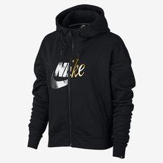 Женская худи с элементами металлик с молнией во всю длину Nike Sportswear Rally