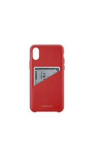Кожаный чехол для iphone х карт - Casetify