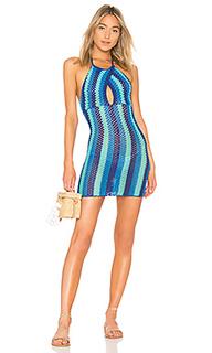 Облегающее вязаное крючком платье blues - Lovers + Friends