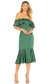 Миди платье с открытыми плечами laguna - Lovers + Friends
