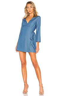Платье с длинным рукавом и запахом blue crush - Lovers + Friends