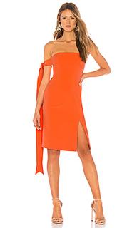Мини-платье без бретелей с завязками на руках zaza - NBD