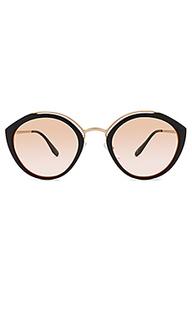 Солнцезащитные очки round temple evolution - Prada