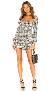Мини-платье с длинным рукавом clarise - MAJORELLE