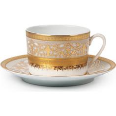 Набор чайных пар 0.22 л 12 предметов La Rose des Sables Mimosa Didon Or (539506 1645)