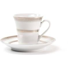 Набор чайных пар 0.22 л 12 предметов La Rose des Sables Princier Platine (739507 1801)