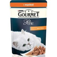 Паучи Gourmet Perle Mini Fillets с индейкой для кошек 85г (12222524)