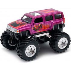 Игрушечная машинка Welly модель машины 1:34-39 Hammer H3 Big Wheel Monster (47001S)