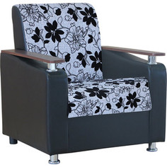 Кресло Шарм-Дизайн Мелодия ДП №1 шенилл серый цветы