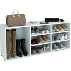 Полка для обуви Мастер Лана-3 ПОЛ-3 (1С+2П) (белый) МСТ-ПОЛ-1С-2П-БТ-16 Master