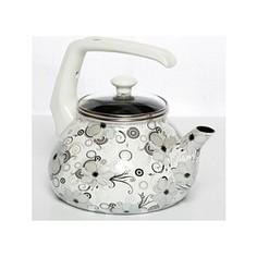 Чайник эмалированный 2.2 л Interos Кружево 2.2л 1279