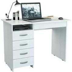 Письменный стол Мастер Милан-1 левый (белый) Master