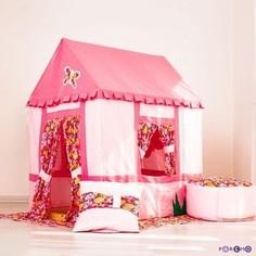 PAREMO Текстильный домик-палатка с пуфиком для девочек Дворец Мирабель (PCR116-02)